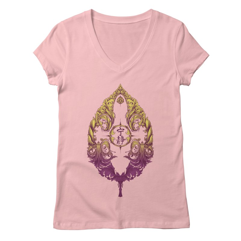 Leaf Victoriana Women's V-Neck by 6amcrisis's Artist Shop
