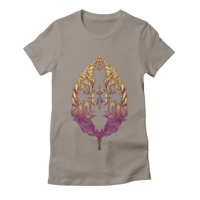 Leaf Victoriana Women's Fitted T-Shirt by 6amcrisis's Artist Shop