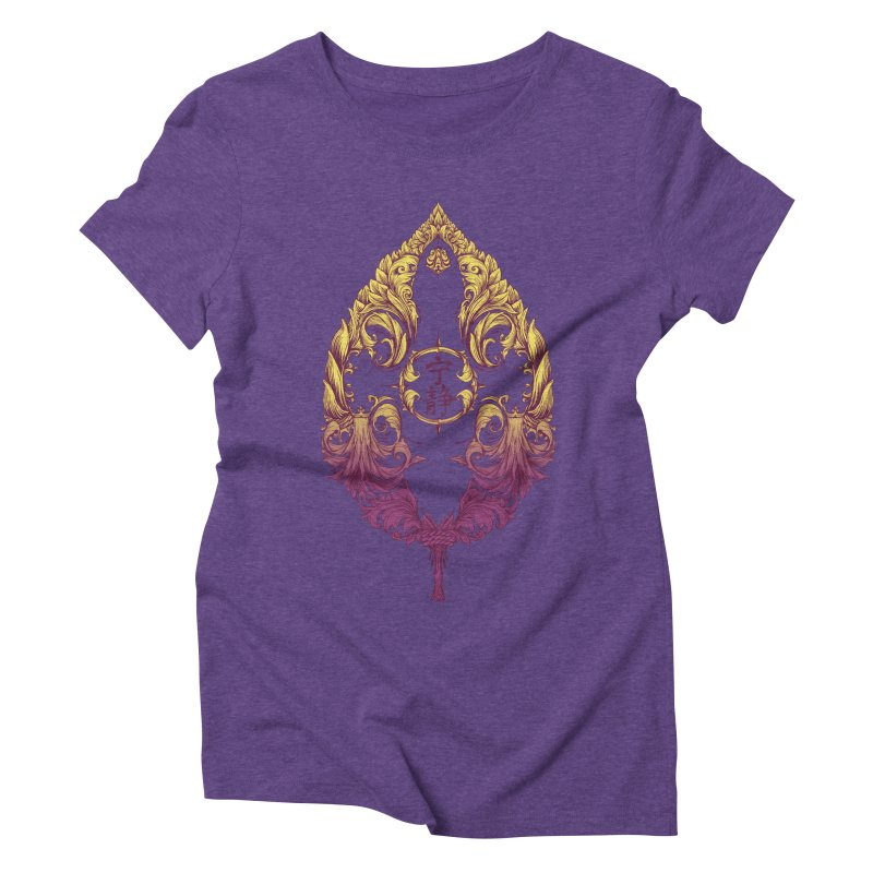 Leaf Victoriana Women's Triblend T-Shirt by 6amcrisis's Artist Shop