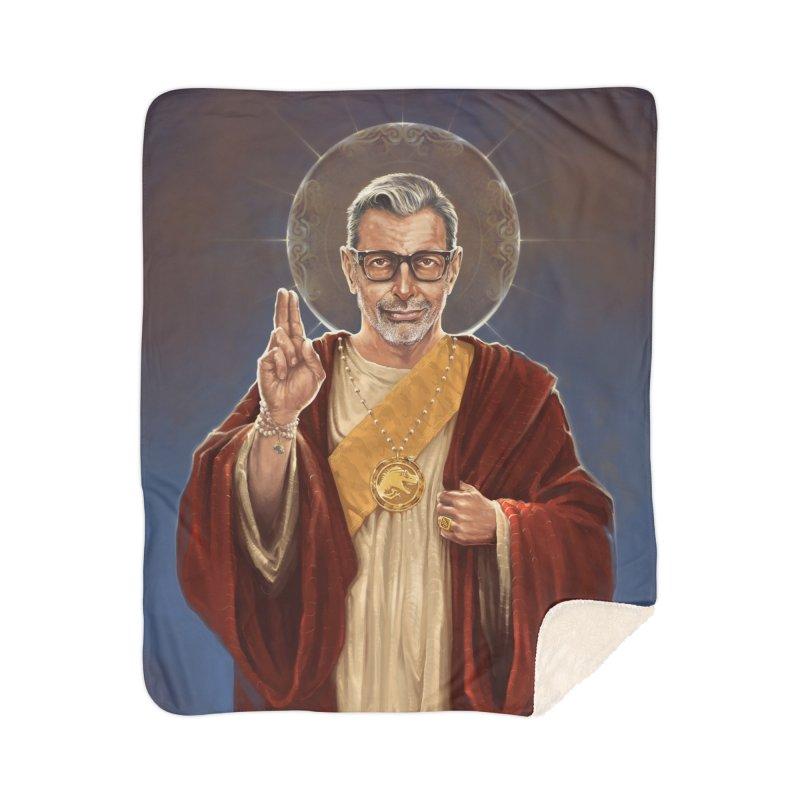 Saint Jeff of Goldblum Home Sherpa Blanket Blanket by 6amcrisis's Artist Shop