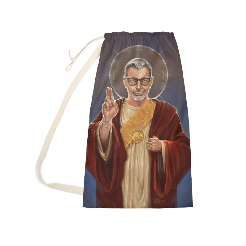 Saint Jeff of Goldblum Accessories Laundry Bag Bag by 6amcrisis's Artist Shop