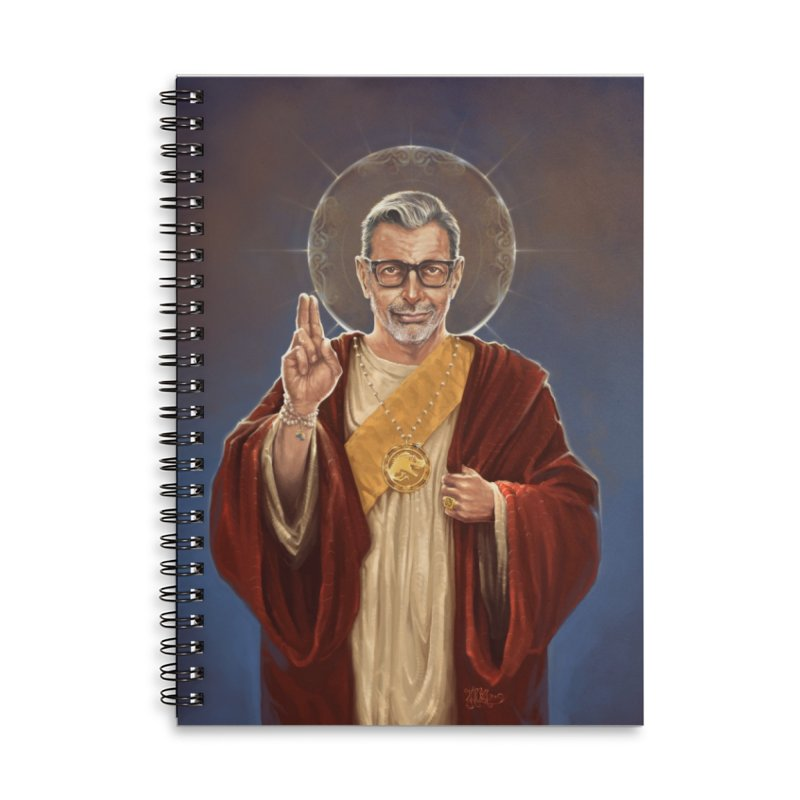 Saint Jeff of Goldblum Accessories Lined Spiral Notebook by 6amcrisis's Artist Shop