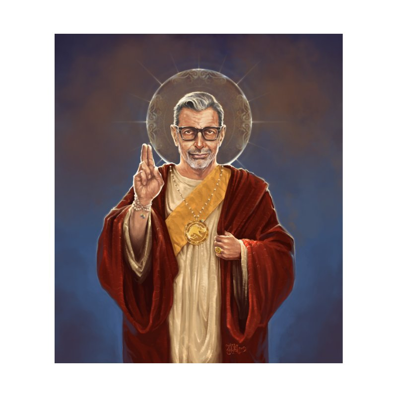 Saint Jeff of Goldblum Accessories Beach Towel by 6amcrisis's Artist Shop