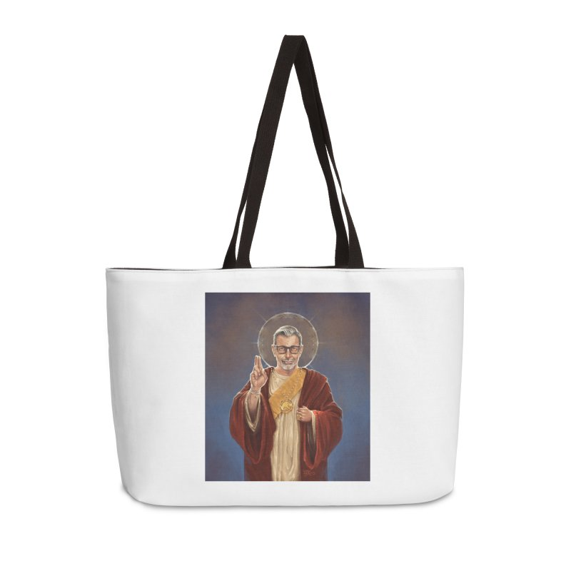 Saint Jeff of Goldblum Accessories Weekender Bag Bag by 6amcrisis's Artist Shop