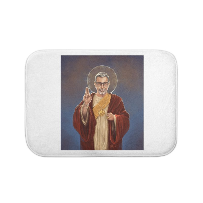 Saint Jeff of Goldblum Home Bath Mat by 6amcrisis's Artist Shop