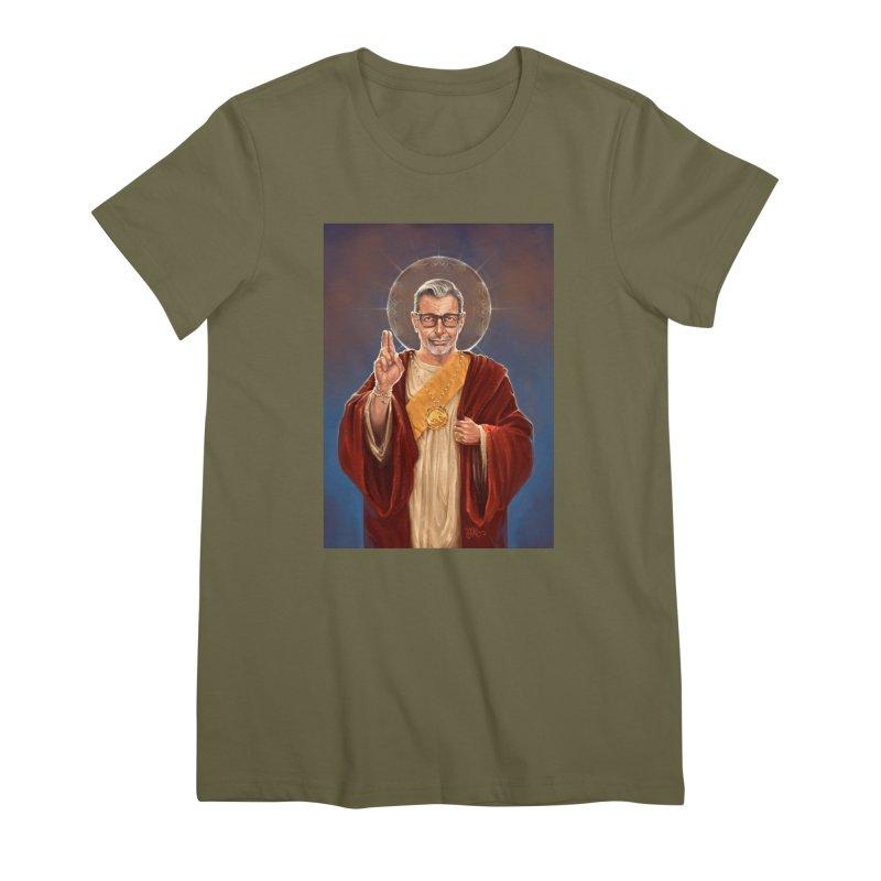 Saint Jeff of Goldblum Women's Premium T-Shirt by 6amcrisis's Artist Shop