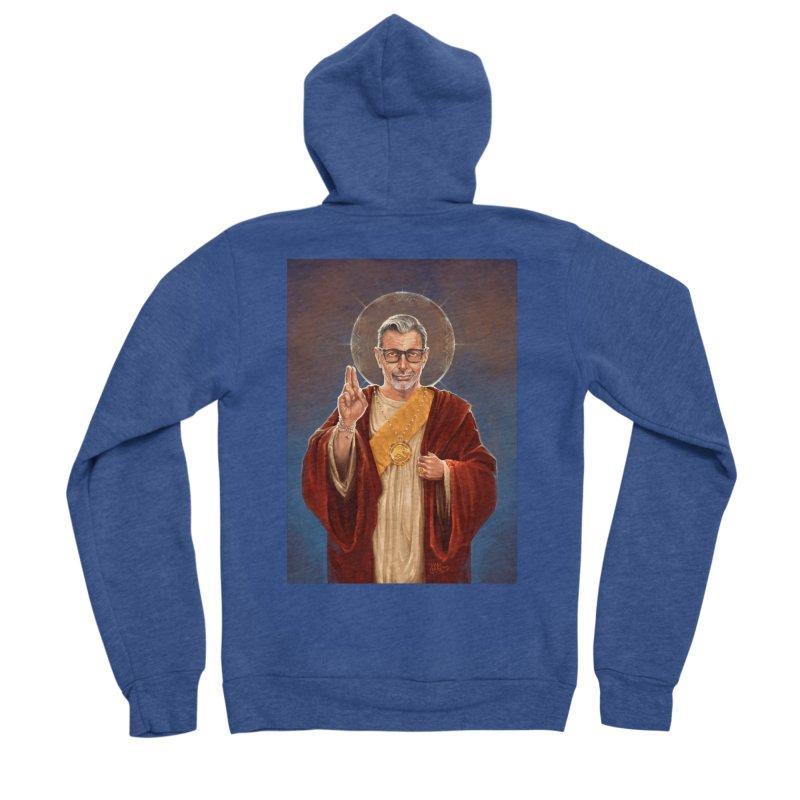 Saint Jeff of Goldblum Women's Sponge Fleece Zip-Up Hoody by 6amcrisis's Artist Shop