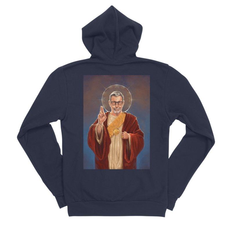 Saint Jeff of Goldblum Men's Sponge Fleece Zip-Up Hoody by 6amcrisis's Artist Shop