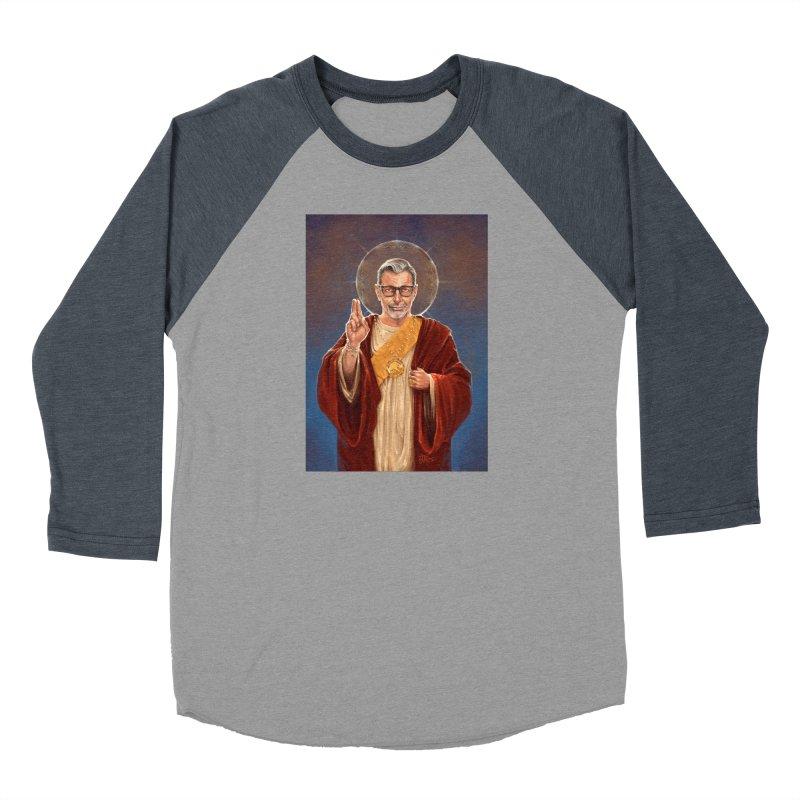 Saint Jeff of Goldblum Men's Baseball Triblend Longsleeve T-Shirt by 6amcrisis's Artist Shop