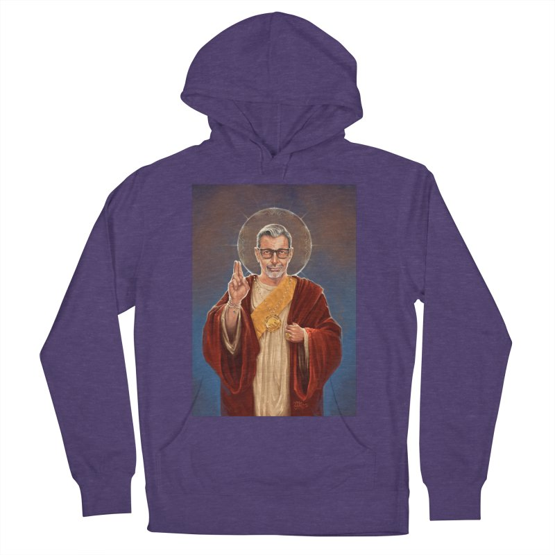 Saint Jeff of Goldblum Men's French Terry Pullover Hoody by 6amcrisis's Artist Shop