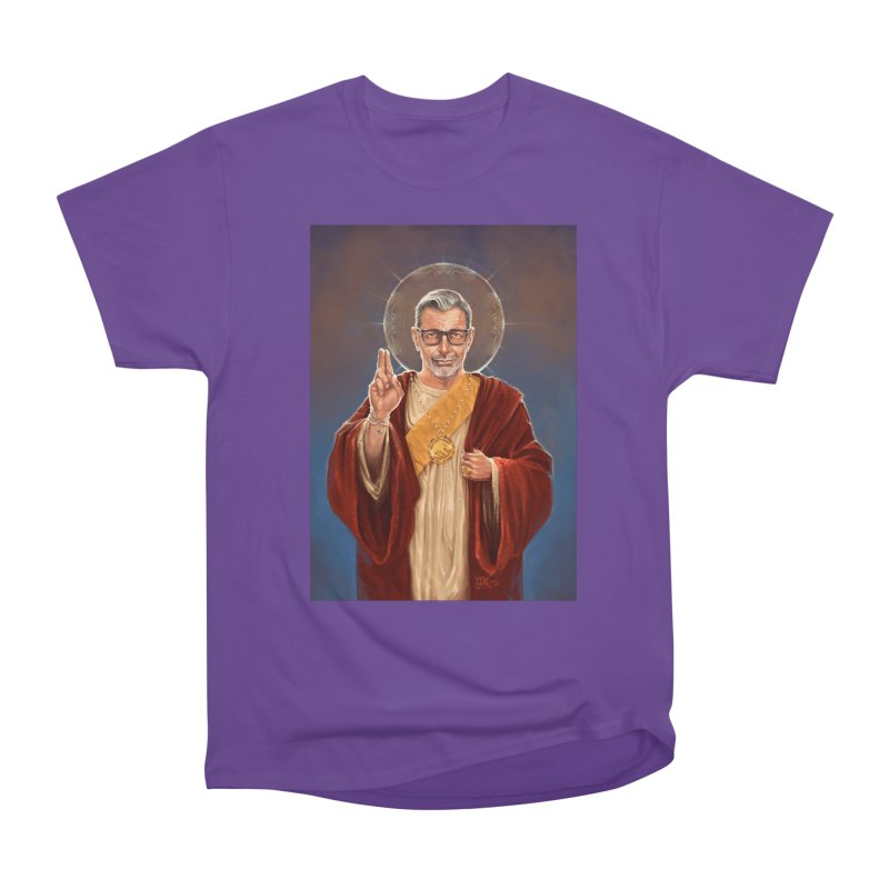 Saint Jeff of Goldblum Women's Heavyweight Unisex T-Shirt by 6amcrisis's Artist Shop