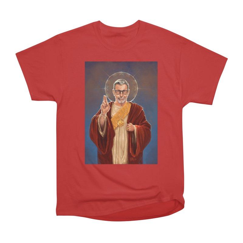 Saint Jeff of Goldblum Men's Heavyweight T-Shirt by 6amcrisis's Artist Shop