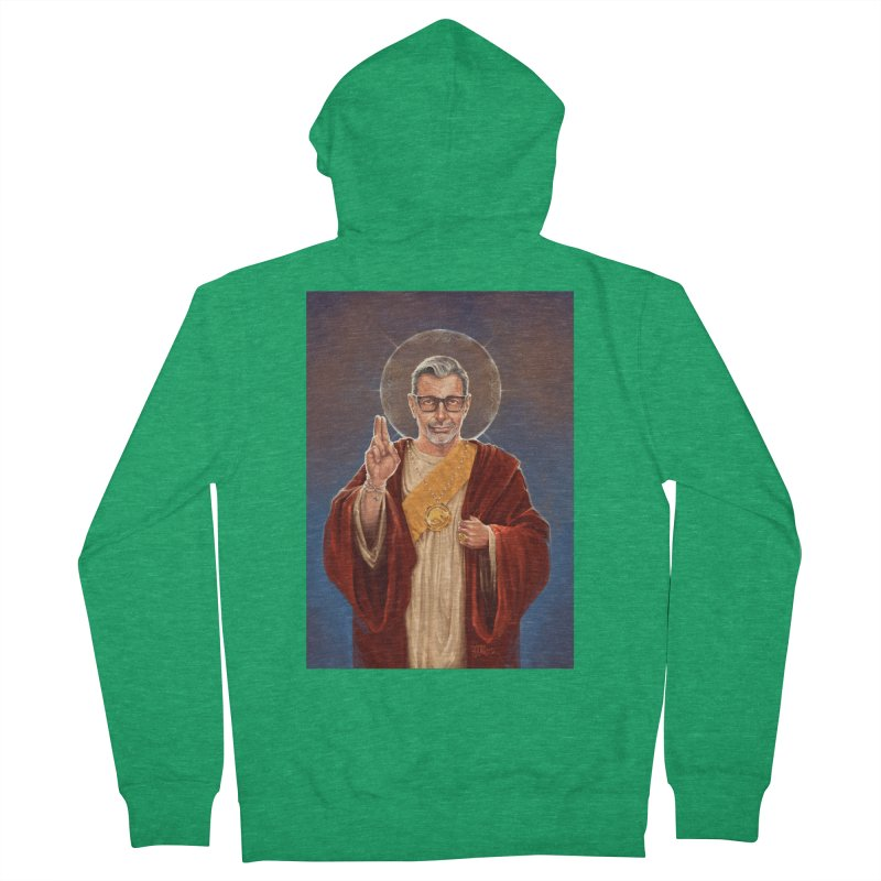 Saint Jeff of Goldblum Women's Zip-Up Hoody by 6amcrisis's Artist Shop