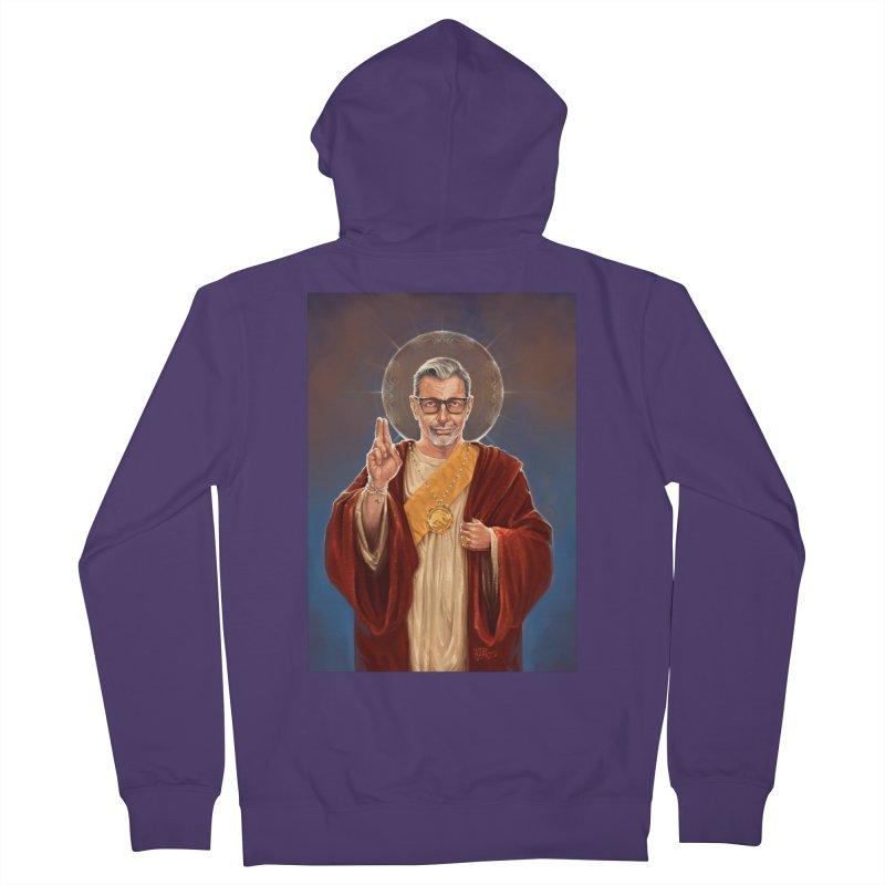 Saint Jeff of Goldblum Women's French Terry Zip-Up Hoody by 6amcrisis's Artist Shop