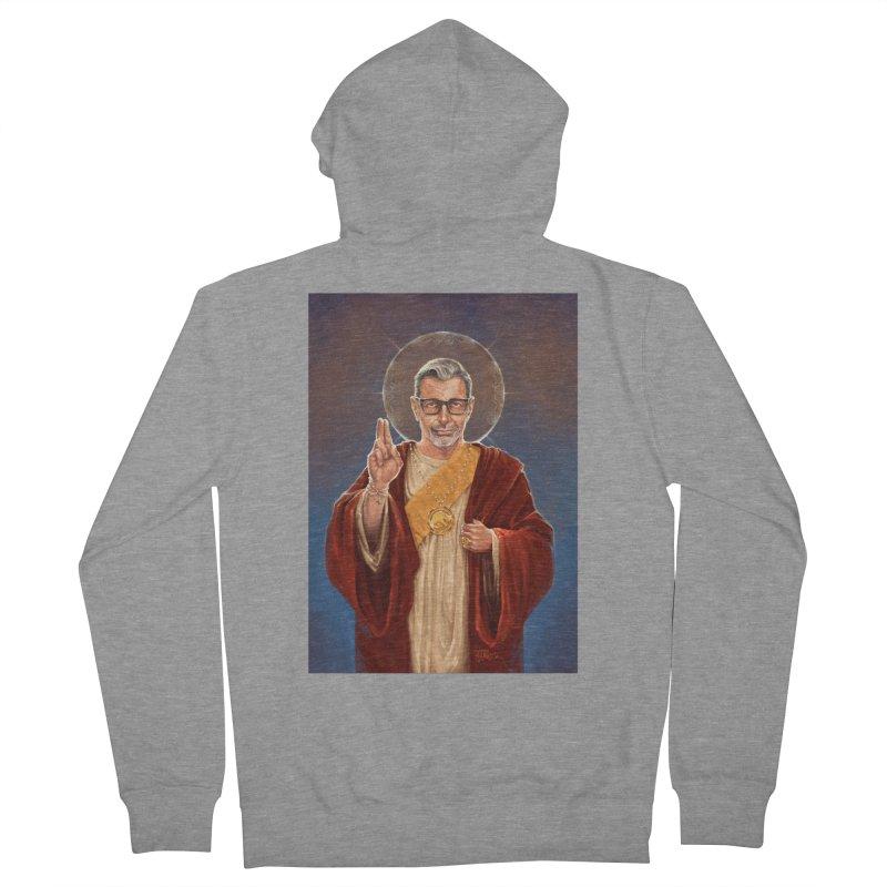 Saint Jeff of Goldblum Men's French Terry Zip-Up Hoody by 6amcrisis's Artist Shop