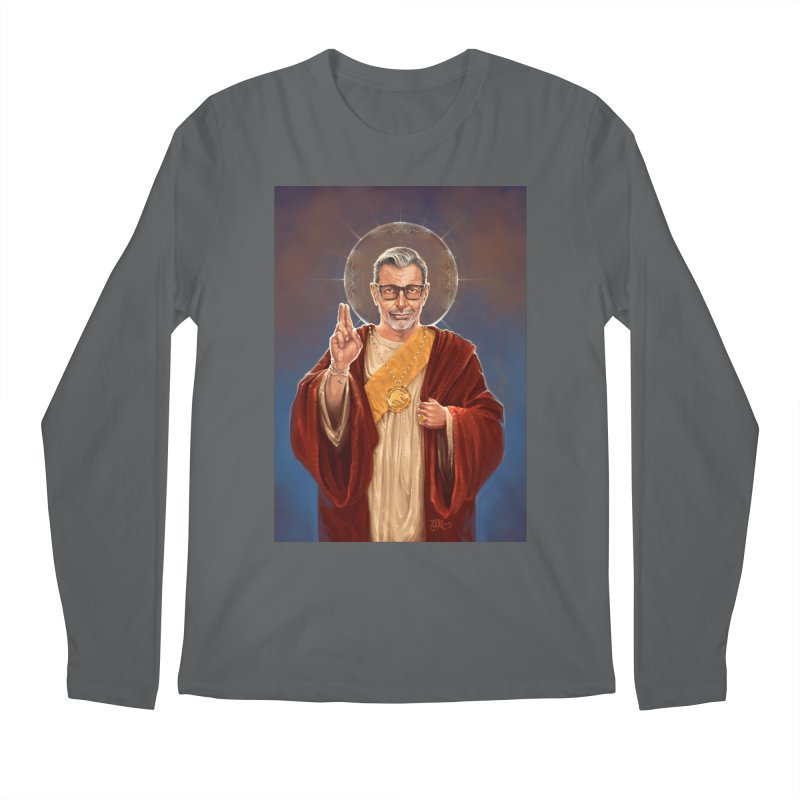 Saint Jeff of Goldblum Men's Regular Longsleeve T-Shirt by 6amcrisis's Artist Shop