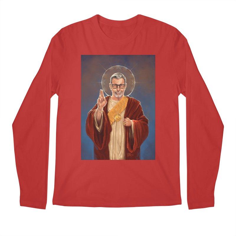 Saint Jeff of Goldblum Men's Regular Longsleeve T-Shirt by 6amcrisis's Artist Shop