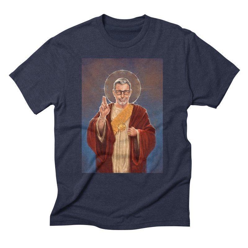 Saint Jeff of Goldblum Men's Triblend T-Shirt by 6amcrisis's Artist Shop