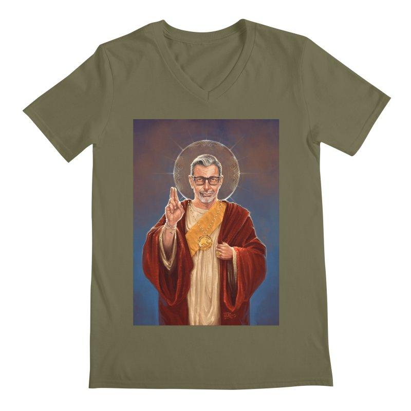 Saint Jeff of Goldblum Men's Regular V-Neck by 6amcrisis's Artist Shop