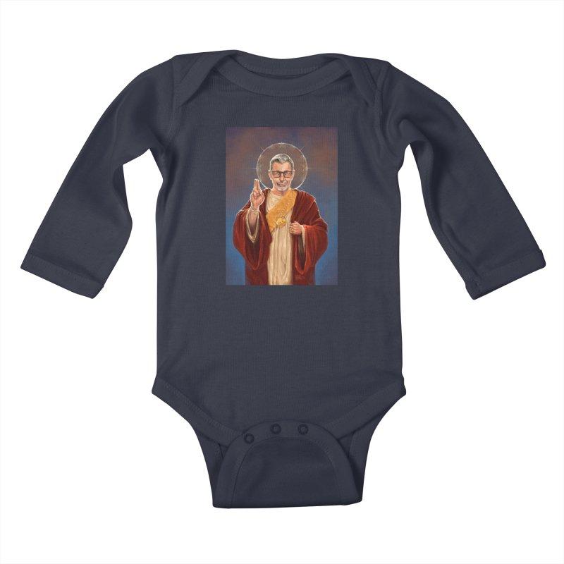 Saint Jeff of Goldblum Kids Baby Longsleeve Bodysuit by 6amcrisis's Artist Shop