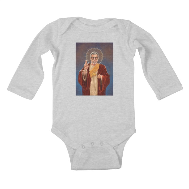Saint Jeff of Goldblum Kids Baby Longsleeve Bodysuit by 6amcrisis's Artist Shop
