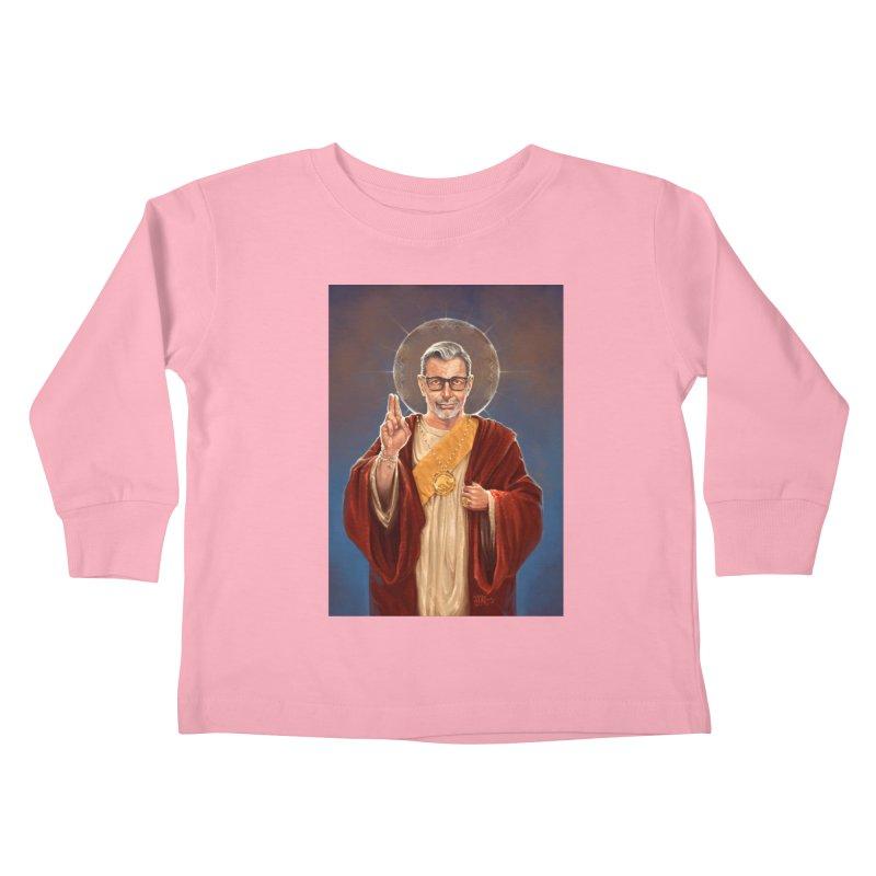 Saint Jeff of Goldblum Kids Toddler Longsleeve T-Shirt by 6amcrisis's Artist Shop
