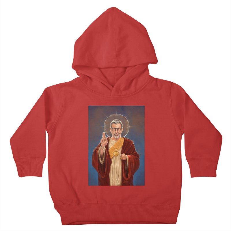 Saint Jeff of Goldblum Kids Toddler Pullover Hoody by 6amcrisis's Artist Shop