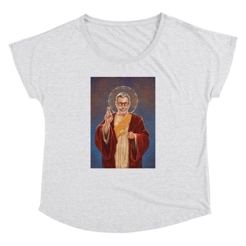 Saint Jeff of Goldblum Women's Dolman Scoop Neck by 6amcrisis's Artist Shop