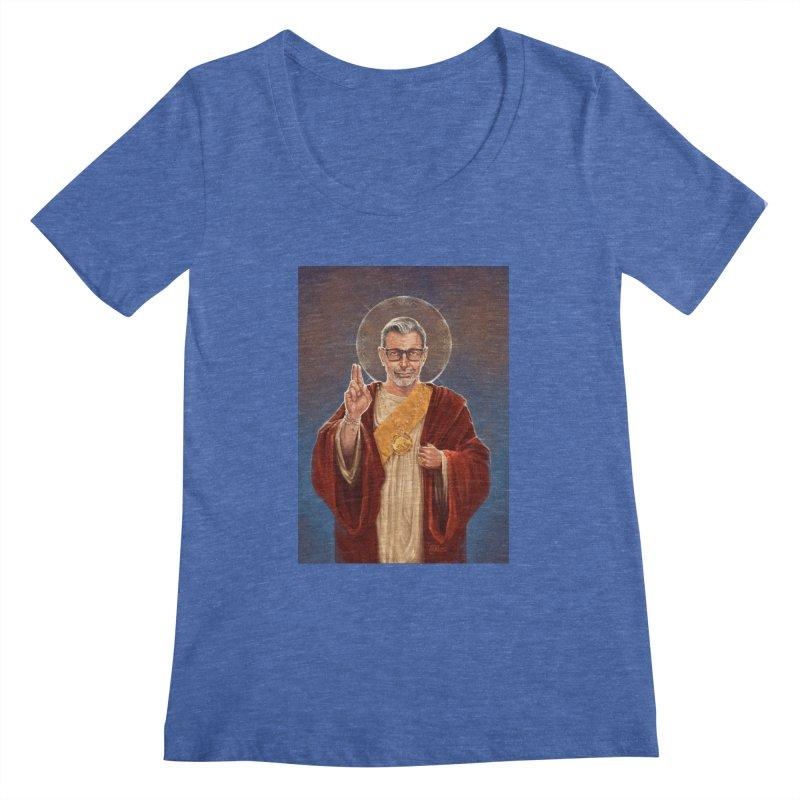 Saint Jeff of Goldblum Women's Regular Scoop Neck by 6amcrisis's Artist Shop