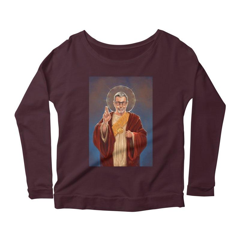 Saint Jeff of Goldblum Women's Scoop Neck Longsleeve T-Shirt by 6amcrisis's Artist Shop