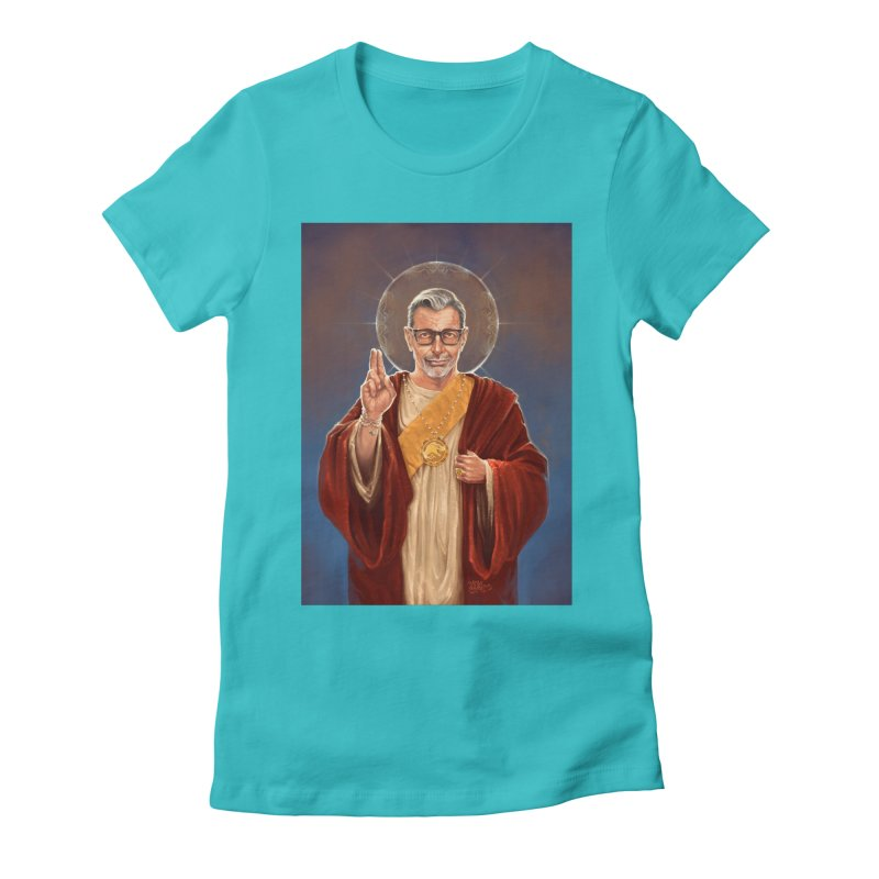 Saint Jeff of Goldblum Women's Fitted T-Shirt by 6amcrisis's Artist Shop