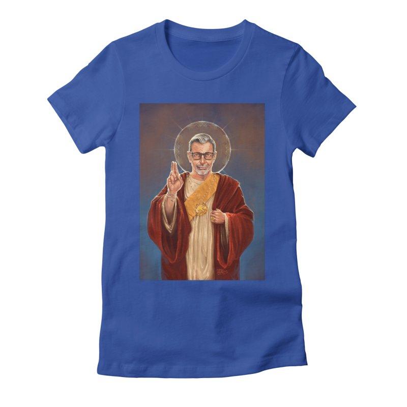 Saint Jeff of Goldblum Women's Fitted T-Shirt by 6amcrisis's Artist Shop
