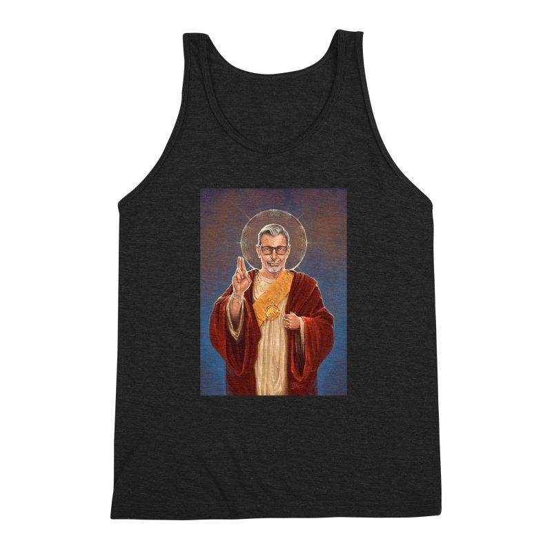 Saint Jeff of Goldblum Men's Triblend Tank by 6amcrisis's Artist Shop