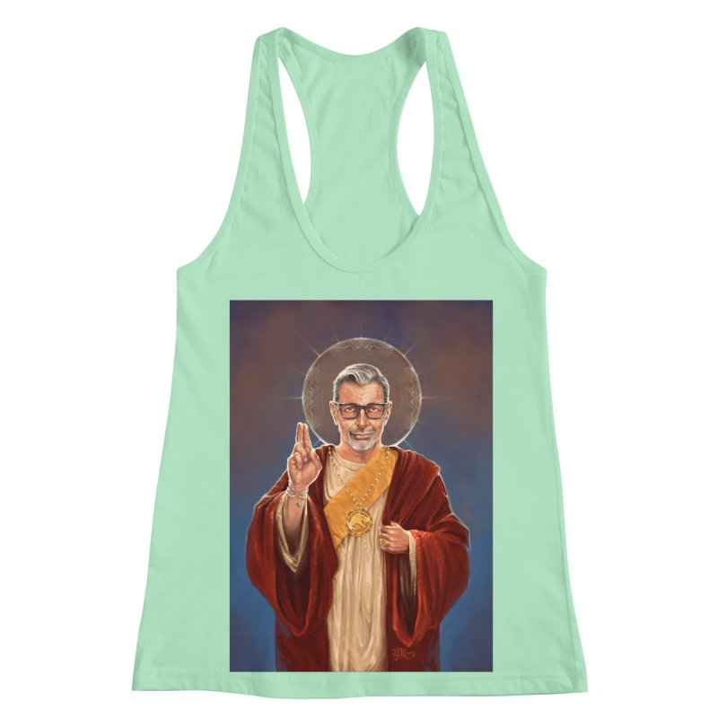 Saint Jeff of Goldblum Women's Racerback Tank by 6amcrisis's Artist Shop