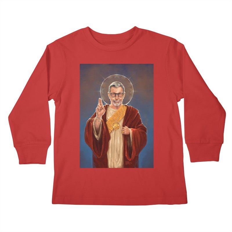 Saint Jeff of Goldblum Kids Longsleeve T-Shirt by 6amcrisis's Artist Shop