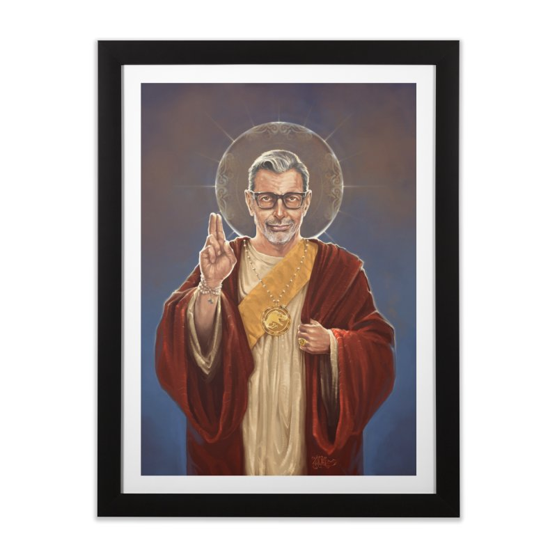 Saint Jeff of Goldblum Home Framed Fine Art Print by 6amcrisis's Artist Shop