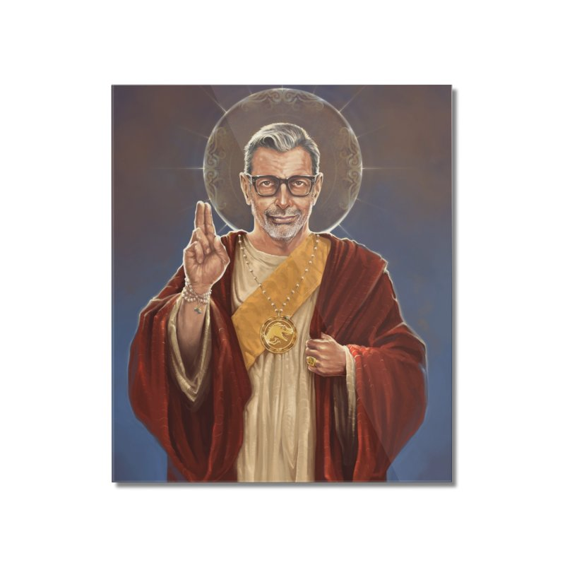Saint Jeff of Goldblum Home Mounted Acrylic Print by 6amcrisis's Artist Shop