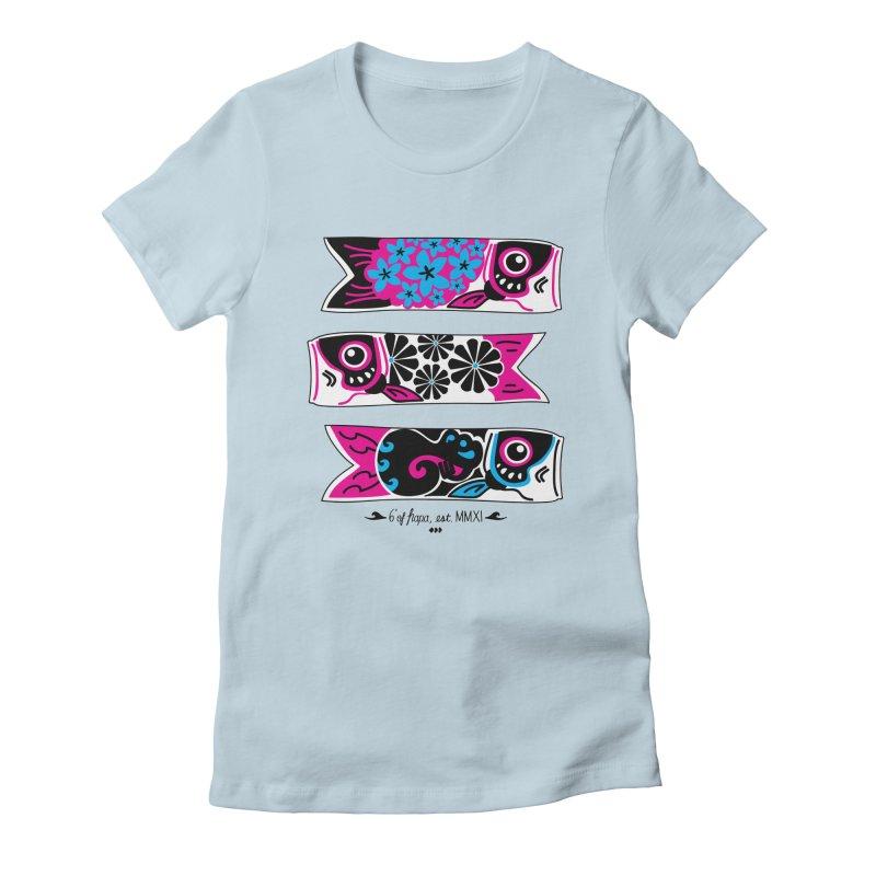 3 Koinobori - Pink/Blue Women's T-Shirt by 6degreesofhapa's Artist Shop