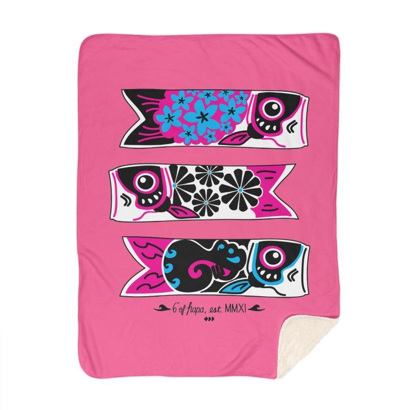 3 Koinobori - Pink/Blue Home Blanket by 6degreesofhapa's Artist Shop