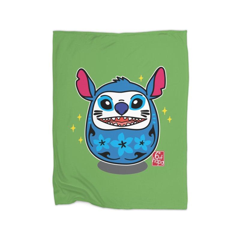 Daruma Aloha Alien - Happy Home Blanket by 6degreesofhapa's Artist Shop