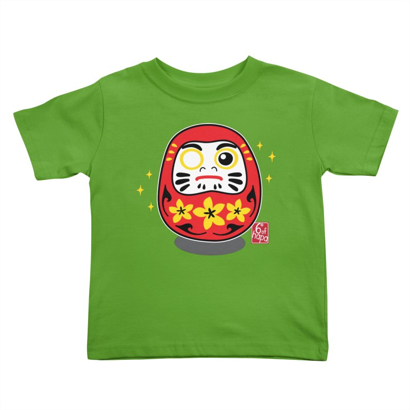 Daruma Doll - Plumeria Kids Toddler T-Shirt by 6degreesofhapa's Artist Shop