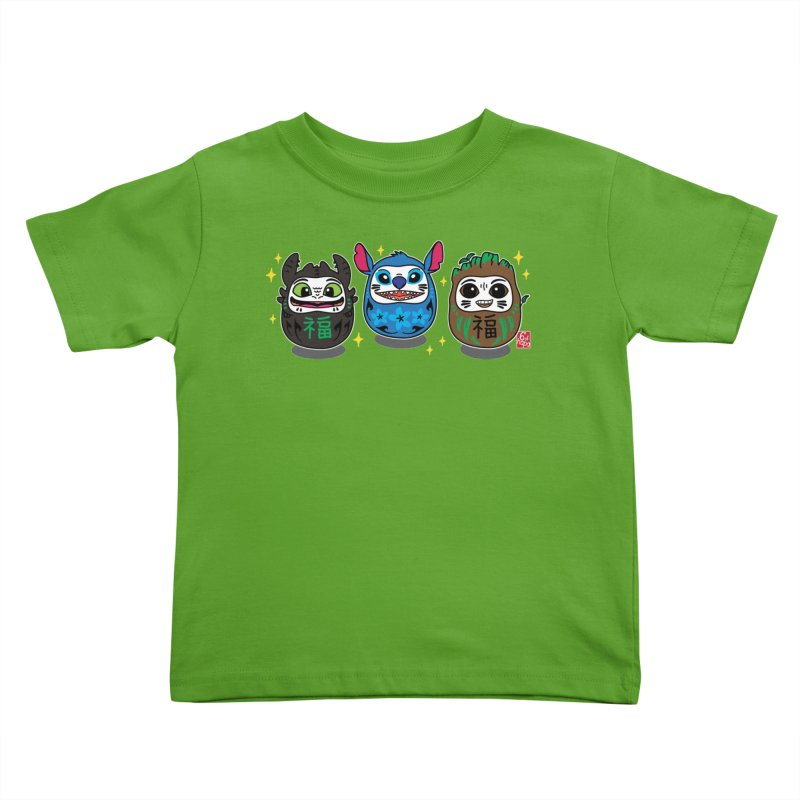 Daruma Troublemakers Kids Toddler T-Shirt by 6degreesofhapa's Artist Shop