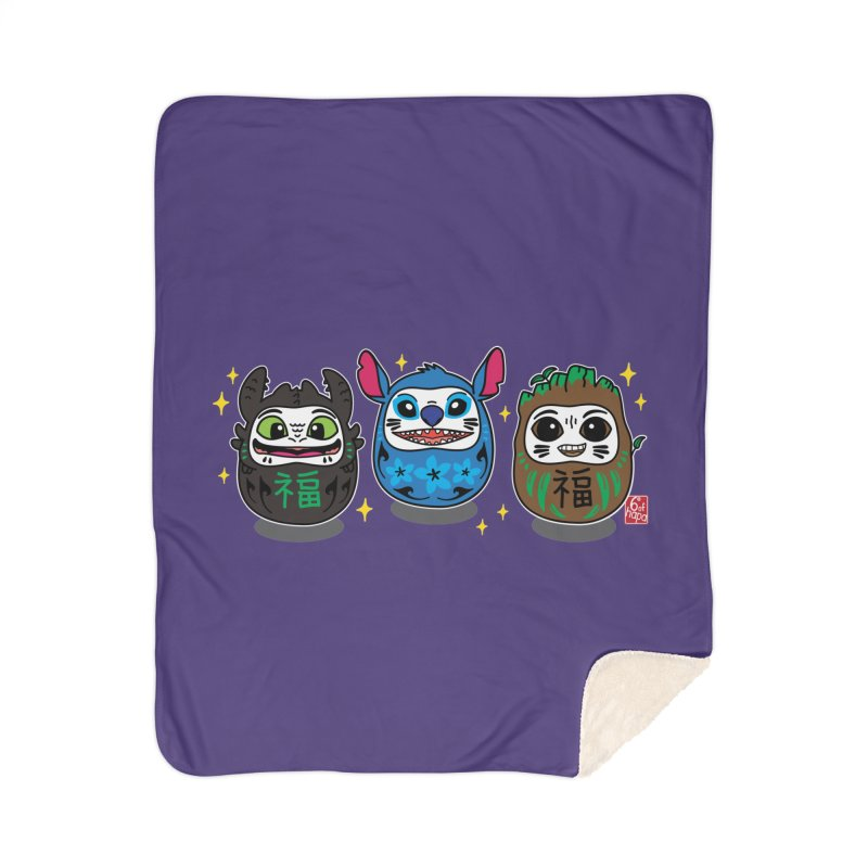 Daruma Troublemakers Home Blanket by 6degreesofhapa's Artist Shop