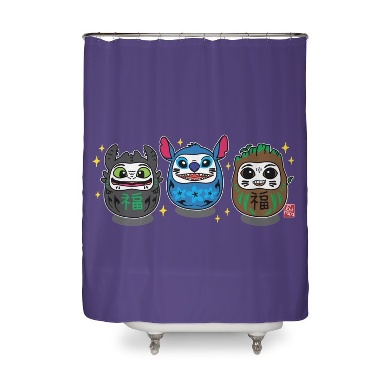 Daruma Troublemakers Home Shower Curtain by 6degreesofhapa's Artist Shop