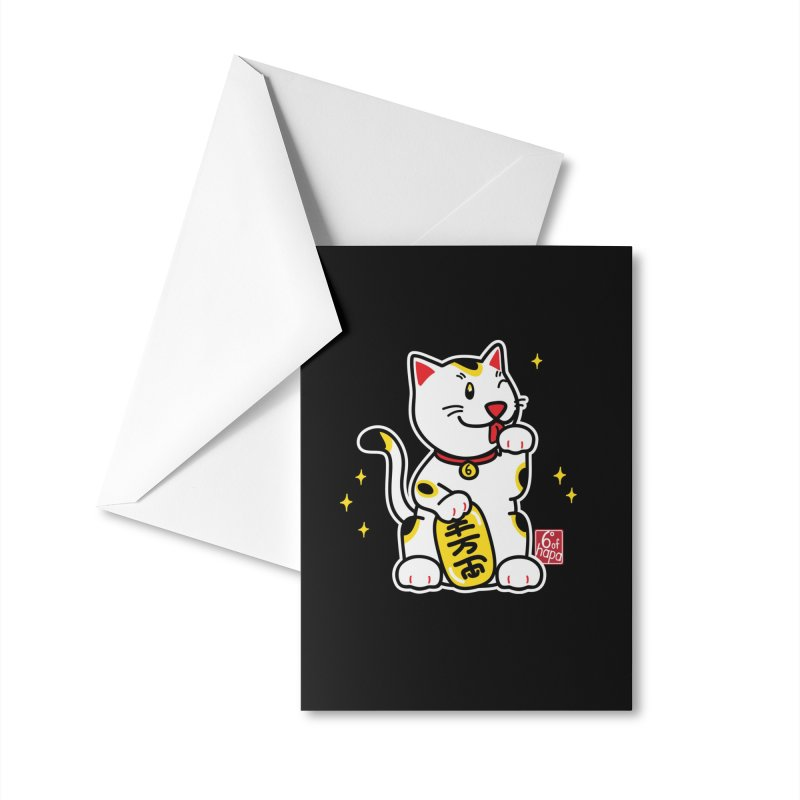 Maneki Neko Accessories Greeting Card by 6degreesofhapa's Artist Shop