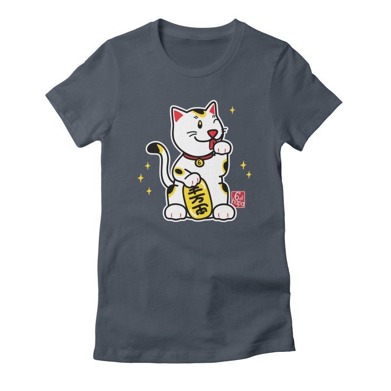 Maneki Neko Women's T-Shirt by 6degreesofhapa's Artist Shop