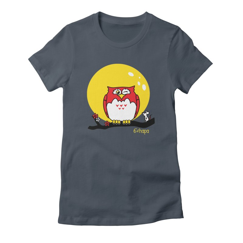Fukurou with Mouse and Moon Women's T-Shirt by 6degreesofhapa's Artist Shop