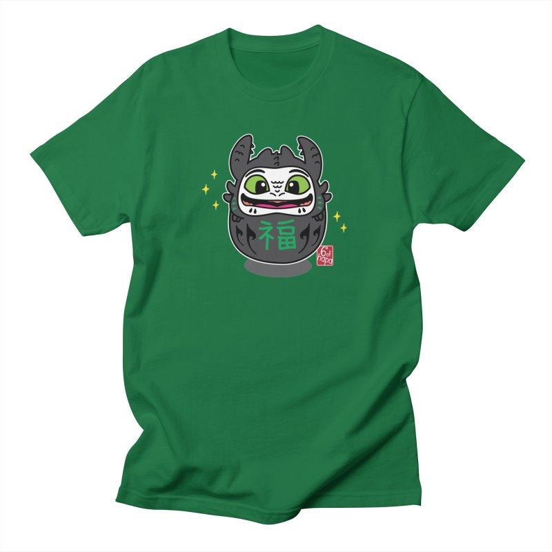 Daruma Friendly Dragon Men's T-Shirt by 6degreesofhapa's Artist Shop