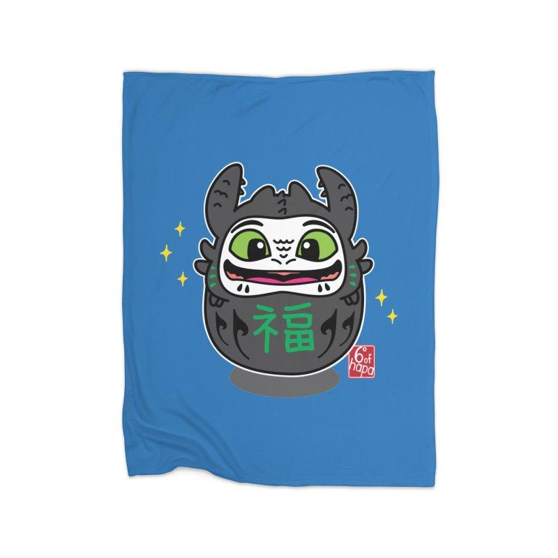 Daruma Friendly Dragon Home Blanket by 6degreesofhapa's Artist Shop