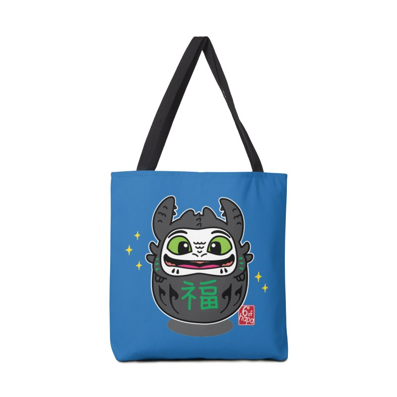 Daruma Friendly Dragon Accessories Bag by 6degreesofhapa's Artist Shop